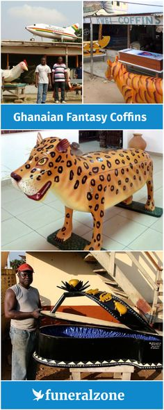 The amazing art of Ghanaian fantasy coffins, designed to look like animals and everyday objects