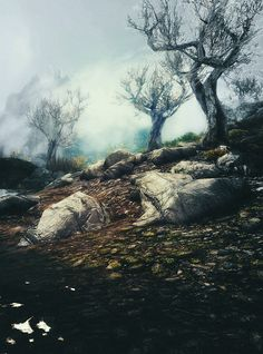 Looks like a shot of the Reach. Everywhere in Skyrim is beautiful