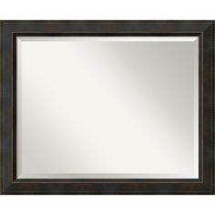 <li>Versatile beveled mirror complements any style of home decor</li><li>Decorative accessory features angled dark bronze frame with beaded outer edge</li><li>High-quality custom-framed mirror is fitted with two sets of hanging hardware on the back</li>