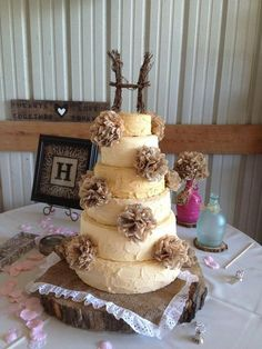 Country Chic Wedding Cakes | /country chic wedding cake - by jsweetcakes @ CakesDecor.com - cake ...