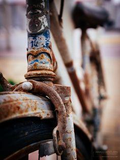 Vecchie biciclette agli angoli delle strade… sembra il testo di qualche canzone. Ormai resistono solo loro all'impeto del costante rinnovamento… auto con un filo di ruggine sono q…