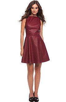 Armani Exchange Faux Leather Mini Dress