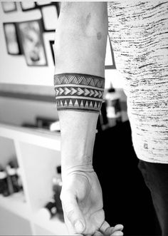 The millennial generation craves to express themselves! Moreover, what could be a better way than having something so close to your heart that actually made or Tribal Tattoo Designs, Tribal Arm Tattoos For Men, Band Tattoos For Men, Tribal Band Tattoo, Tribal Forearm Tattoos, Wrist Band Tattoo, Band Tattoo Designs, Maori Tattoos, Wrist Tattoos For Guys