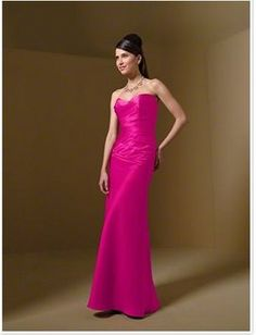Alfred Angelo Bridesmaid Pink Long Dress