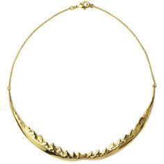 Tom Binns Nophobia Shark Jaw Necklace ($425) ❤ liked on Polyvore featuring jewelry, necklaces, tom binns, chain link necklace, tom binns necklace and tom binns jewelry
