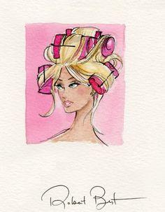Robert Best Barbie Print fashion illustrations(¯`'•.ೋ