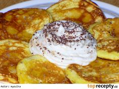 Rychlé jogurtové lívanečky Baby Food Recipes, Cooking Recipes, Griddle Cakes, Czech Recipes, Pancakes And Waffles, Breakfast Bake, Sweet And Salty, Easy Meals, Brunch