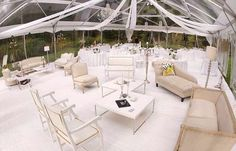 Interesting idea but less white  clear top marque chic wedding