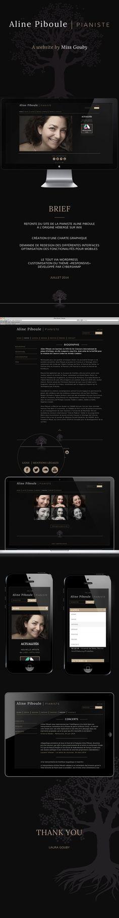 www.alinepiboule.com #webdesign