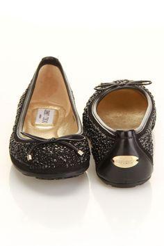 Jimmy Choo Weber Flat In Black #JimmyChoo  #shoes #jimmychooflats