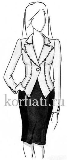Выкройка пиджака женского