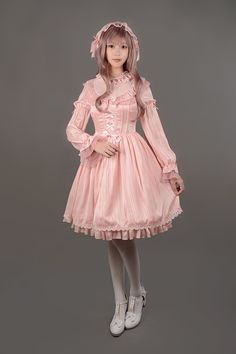 Neverland Lolita ~Fantasy Dream~ Chiffon Long Sleeves Lolita OP Dress - My…