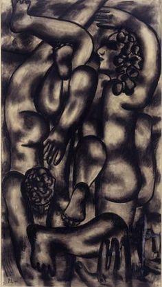 1941 Les Grands Plongeurs (The Divers), by Josef Fernand Henri Léger (1881~1955)