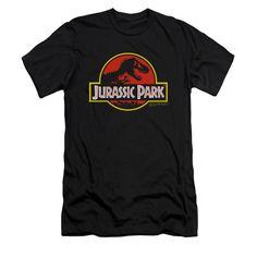 Amazon.com: Jurassic Park 1993 Sci-Fi Thriller Movie Classic T-Rex Logo Adult Slim T-Shirt: Clothing