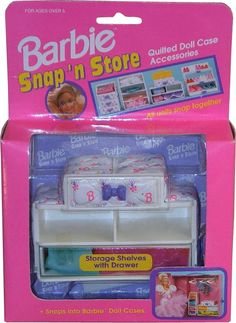 Snap'n storage shelves with drawer Barbie accessories 2 Barbie Bath, Barbie Doll Case, Vintage Barbie Dolls, Barbie And Ken, Vintage Toys, Barbie Furniture, House Furniture, Furniture Sets, Barbie Store