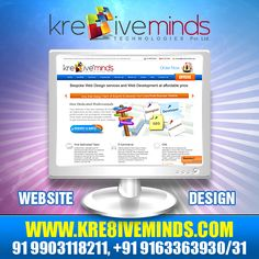 Effective #webdesign helps you not only to mark your presence in the competitive market but also boost your online prospects. Get it done efficiently at reasonable price only at http://www.kre8iveminds.com/