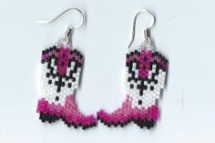 Cowboy Boot Earrings by Edithscustomcrafts on Etsy, $14.99