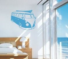 Volkswagen Bus Wall Decal Sticker Art Graphic by PerfectPeacocks, $34.00