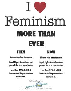 How a woman can say she doesn't need feminism is beyond me.