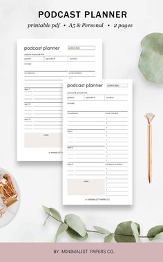 Podcast Content Planner and Social Media Planner, Blog Planner and Content Planner, Business Planner for Podcast Content in A5 & Personal Size For Individual Who Loves Minimalist And Clean Design, Instant Download! #podcastplanner #contentplanner #blogplanner #businessplanner #socialmediaplanner College Planner, Business Planner, Planner Dividers, Planner Inserts, Study Planner, Blog Planner, Printable Planner, Printables, Study Schedule