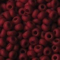 Rocailles Mat Opaque Donkerrood. 2.6mm. Hoge kwaliteit ca. 17 gram voor