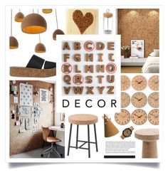 """Cork Decor"" by ivansyd ❤ liked on Polyvore featuring interior, interiors, interior design, home, home decor, interior decorating, Kikkerland, ashortwalk, T.U.K. and HAY"