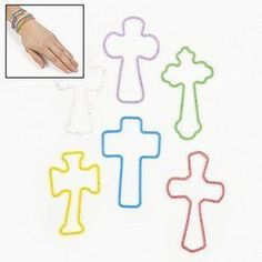 SILICONE GLITTER CROSS FUNBANDS (6 DOZEN) - BULK * Details can be found by clicking on the image. (This is an affiliate link) #BraceletsDressUpToys