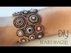 bracelets with beads Beaded Bracelets Tutorial, Handmade Bracelets, Handmade Jewelry, Colorful Bracelets, Diamond Bracelets, Beaded Earrings, Beaded Jewelry, Bridal Earrings, Leather Jewelry
