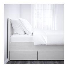 BRUSALI Sengestel med 4 opbevaringsbokse - 160x200 cm, - - IKEA
