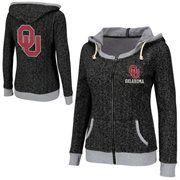 Oklahoma Sooners Ladies Slope Full Zip Hoodie - Charcoal