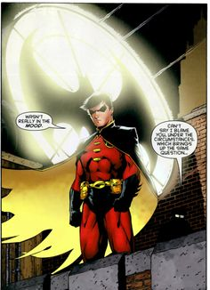 Robin (Tim Drake) people don't understand how much I love love really love Tim drake regardless of mantle like he is one of my heroes!