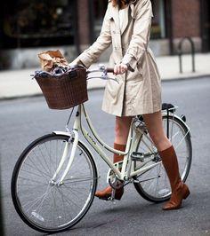 beautiful way to ride a bike