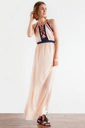 Scottsdale Printed Maxi Dress- sophisticated & simple, love the light pink