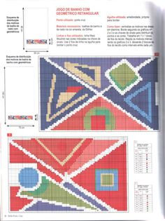 Cross Stitch Borders, Diy And Crafts, Kids Rugs, Stamp, Embroidery, Blanket, Crochet, Stitches, Ethnic