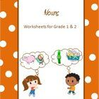 These worksheets are tailored for Grade 1  and Grade 2 kids. It's a set of 18  worksheets covering Nouns and Proper Nouns.