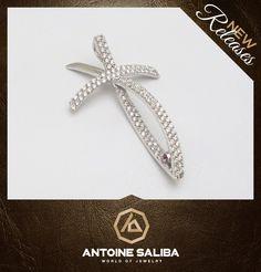 #Fashion #Elegant #Classy #Diamond Fish #Cross 18Kt #Gold #Free_Shipping