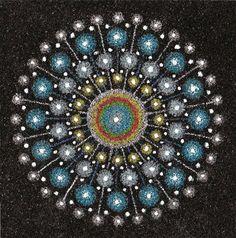 LaBelle Mariposa - sacred art/geometry sand art mandala