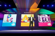Adobe Creative Cloud big presentation - changing the design world