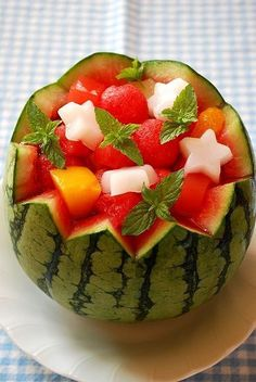 Fruit Trifle, Fruit Recipes, Watermelon, Food And Drink, Foods, Food Food, Food Items