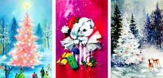 "vintagegal: "" 1950s/1960s Vintage Christmas Cards: part four """