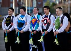 I love the groom and groomsmens' undershirts... so funny