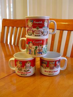 Campbell's Kids Soup Mugs - I HAVE THESE
