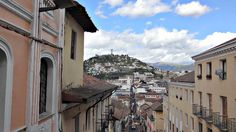 El Panecillo seen from the Historic Center of Quito , El Panecillo seen from the Historic Heart of Quito El Panecillo seen from the Historic Heart of Quito El Panecillo seen from the Historic Heart of Qui. Quito Ecuador, Travel Tags, The Expanse, Street View, Mansions, House Styles, Building, Wordpress, Heart