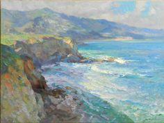 """Laguna Cliffside,"" Kevin Macpherson, oil on canvas, 30 x 40"", Redfern Gallery."