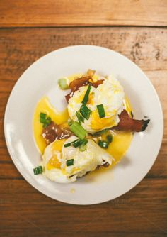 Eggs Benedict w/ Fried Prosciutto by Sean Berrigan Photography on Creative Market Prosciutto, Fries, Eggs, Breakfast, Creative, Photography, Food, Morning Coffee, Meal