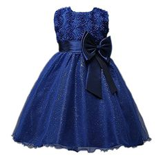 Baby Girl Formal Dress for Wedding Program Birthday Paty with Big Bow Floral Dresses Baby Girl Clothes Bling Bling Little Girl Dresses, Girls Dresses, Flower Girl Dresses, Princess Dresses, Floral Dresses, Baby Girl Fashion, Kids Fashion, Toddler Outfits, Kids Outfits