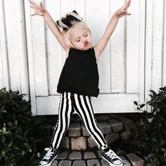 """""""Well, if Everleigh approves. Cross it Off Top + Punked Up Pencil Pants. @foreverandforava @savv_soutas #onpoint #kidsfashion #littleedgethreads"""""""