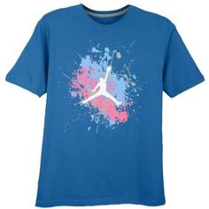 buy popular 05286 02f7c Jordan Painted Splatter Jumpman T-Shirt - Men s - Basketball - Clothing -  Military Blue