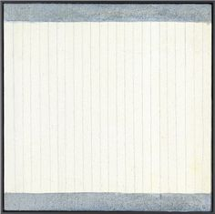 Agnes Martin Untitled Acrylic and graphite on canvas 30.5 x 30.5 cm 2004