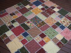 Free Rag Quilt Patterns | This was fun to make, but wow, cutting into all those raggy edges sure ...